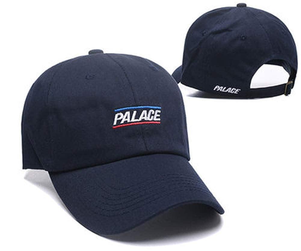 Amazon.com  Palace hat Men Women caps Hip-hop Hip hop Baseball hat INS  Style Couple Curved hat Blue  Clothing c699895c777