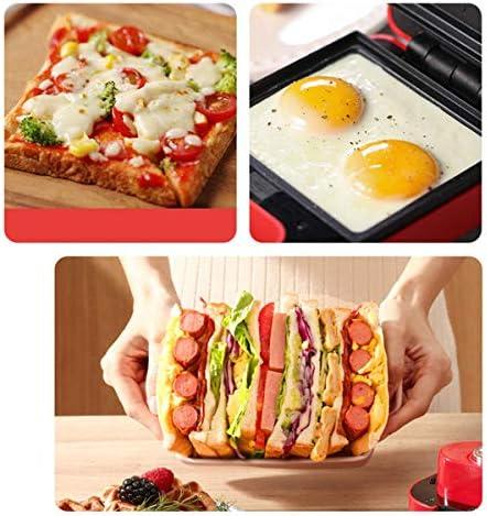 Sandwich Maker Breadmaker Ontbijt Machine, huishouden Multifunctionele Light Eten wafelijzer, Easy Clean, geschikt for Home Kitchen and Party Doisll kshu