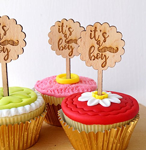 Amazoncom Baby Shower Cupcake Toppers Cupcake Toppers Rustic