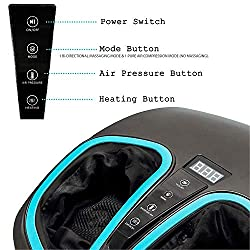 Shiatsu Foot Massager Machine with Heat - Electric Deep Kneading Massage & Air Compression - For Circulation, Feet Legs Muscle Relief, Plantar Fasciitis, Neuropathy Chronic Nerve Pain Therapy Spa Gift