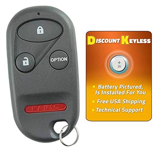 Honda Prelude Key - For 96-06 Honda Keyless Entry Remote Key Fob 4btn A269ZUA101, 72147-SZ3-A92, 72147-S0K-A13, 72147-S0K-A23