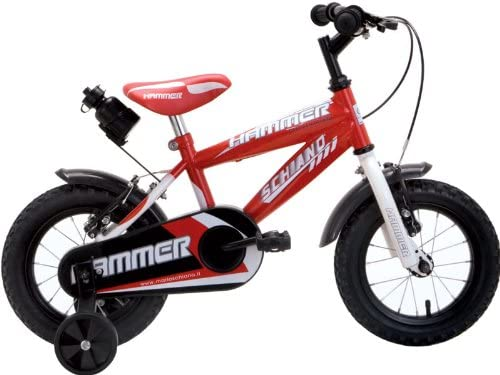 Schiano Hammer - Bicicleta (incluye porta botellas) rojo Talla:12 ...