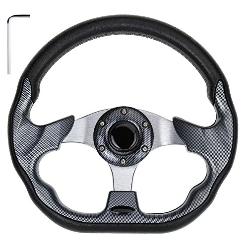 10L0L Golf Cart Steering Wheel, Generic of Most Golf cart EZGO Club Car Yamaha (style2 Gray) ()