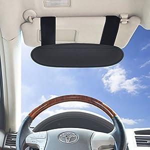 WANPOOL Anti-Glare Anti-Dazzle Vehicle Visor Sunshade Extender Sun Blocker for Cars, Vans and Trucks (Silver) - 2 pieces