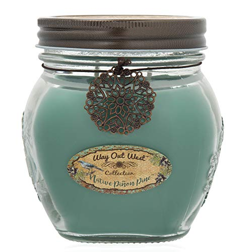 (Way Out  West Candles Scented with Native Pinon Pine/Pinyon - Large 17 oz Jar Candle- Southwestern Style -Long Lasting, Soy Wax Blend - A Favorite Gift for Men &)