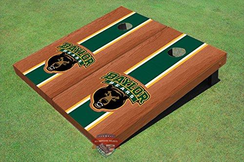 (Baylor University Bear Green Rosewood Matching Long Strip Cornhole Boards - Bu-9120 )