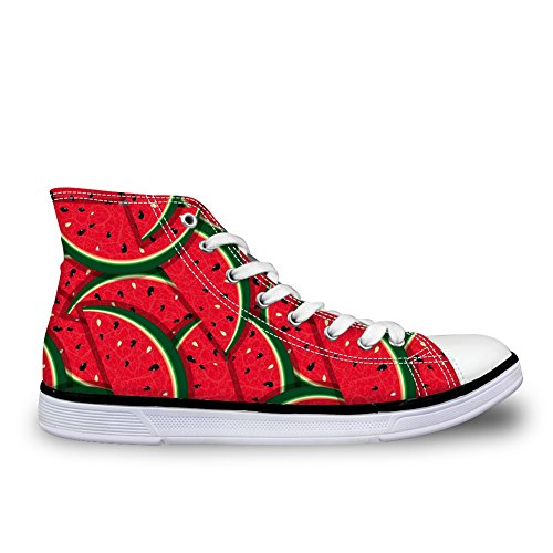 Para U Diseños Zapatillas De Deporte Con Estilo De La Historieta Para Las Mujeres Zapatillas De Deporte De La Universidad Superior Alto Antideslizante Patrón4