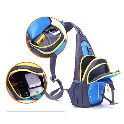 Rucksack Crossbody Diagonal Package Pouch Casual Sports Running Chest Bag Magideal Blue Unisex q05Et