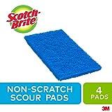 Scotch-Brite Scour Pad, 4 Pack, Multipurpose, Non Scratch Scrub Pad