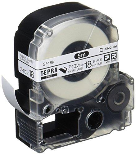 KINGJIM Tepura PRO tape SF18K (Iron label / black characters 18mm width) by KINGJIM