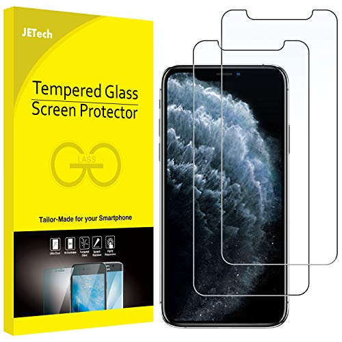 JETech Screen Protector for Apple iPhone 11 Pro, iPhone Xs and iPhone X 5.8-Inch, Tempered Glass Film, 2-Pack (Best Tempered Glass Screen Protector For Iphone X)