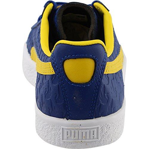 Puma Menns Clyde Atlanta Fm True Blue / Løvetann