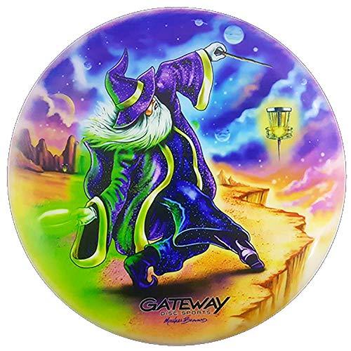 Gateway Wizard Mike Barnard Series Full Color Disc Golf Putter Approach Disc (173-176, Platinum)