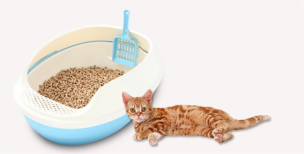 bluee DAN Cat Litter Litter Pan 50  38  20cm