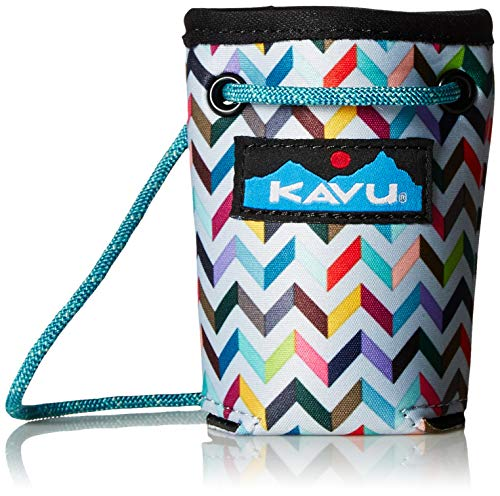 KAVU Hands Free Beverage Insulator Can Coozie With Rope Shoulder Strap