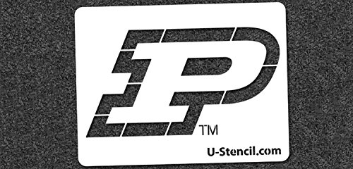 NCAA Purdue Boilermakers 07315 Mini Stencil Craft Kit 11 x 14.5 inches by U-Stencil
