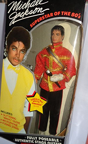 Michael Jackson Superstar of the 80's Ammerican Music Award Outfit doll by (Michael Jackson Microphone)