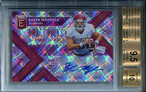 Baker Mayfield Autographed Card Buyers Guide For 2019 Minutatcom