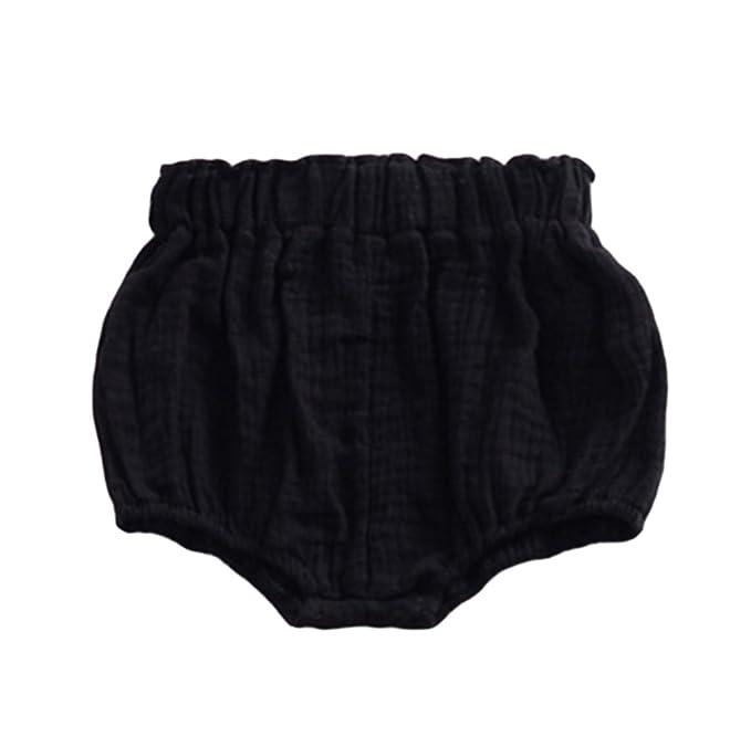 Deyou Pantalones cortos de pañal para bebés Pantalones cortos de pañal para niñas