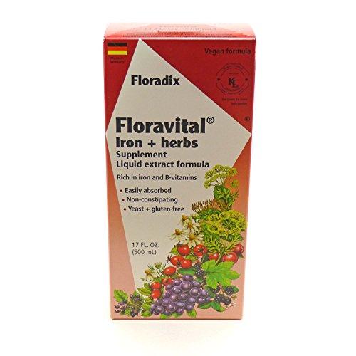 Floradix Floravital Iron & Herb Yeast Free - 17 oz