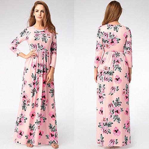 Fiesta De Para Impresión Vestidos Mujer Rosa Vestido Vestir Mujer Fiesta JIALELE De nHxRfw