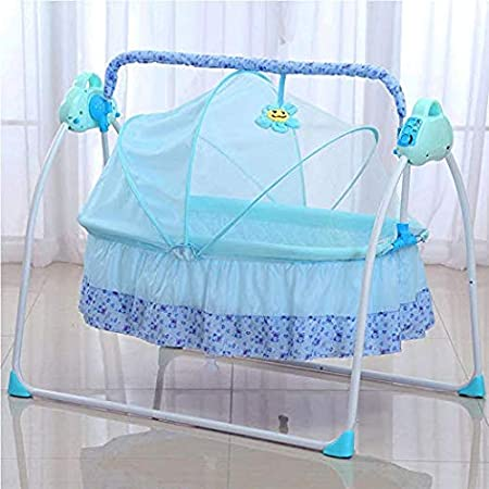 Music Pink TFCFL WSD/&Co Baby Cradle Swing Big Space Electric Automatic Baby Swings for Infants Indoor/&Outdoor Outside with Dolls Boys or Girls bassinets Gift Pink Blue