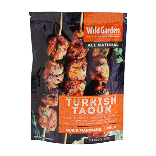 Wild Garden Ready-To-Go BBQ Gourmet Turkish Marinade, 100% All Natural, No Additives, No Preservatives, Bold, Flavorful, Perfect for Chicken, Beef, Fish, Kabobs, Grilling! (6 Pack)