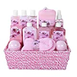 "Large Luxury ""Complete Spa at Home Experience"" Gift Basket for Women by Draizee –#1 Best Gift for girlfriend, mom, wife – Skin Care Set with Lotions, Creams, Bath Bombs & More (Complete Spa Basket)"