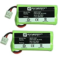 Synergy Digital Cordless Phone Batteries - Replacement for Phillips SJB2121 Cordless Phone Battery (Set of 2)
