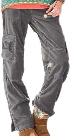 Oneforus Pantalones de Carga Casual de Combate para Mujer ...
