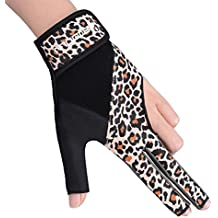 Boodun Billiards Gloves Snooker Gloves Pool Cue Gloves - Wear on the Right or Left Hand - Men or Women