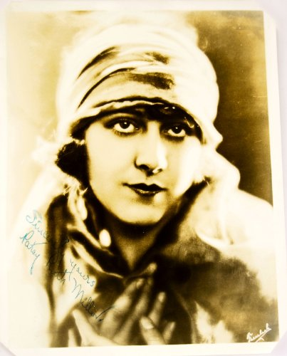 c. 1920's - Patsy Ruth Miller Autographed 8x10 Vintage Photograph - Trimmed Corners - Fountain Pen - Born: 1904 / Died: 1995 - Silent Film Actress - Camille / Wise Virgin / Shanghaied / The Aviator / Quebec - Very Rare - Collectible
