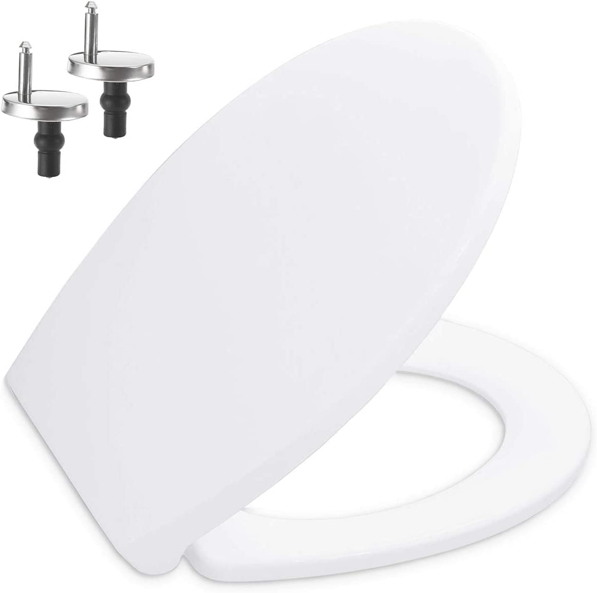 Toilet Seat featuring Soft-Close, Easy Clean, Top Fixing Hinges / OVAL LOO SEAT COVER (Polypropylene Plastic (PP))