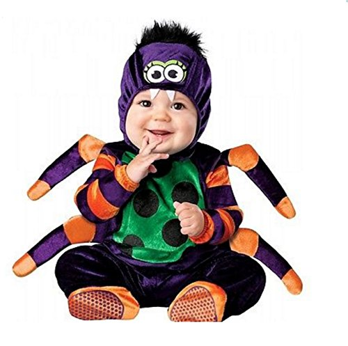 [Spider Costume Baby Itsy Bitsy Spider Halloween Fancy Dress (Infant Medium)] (Daisy And Luigi Halloween Costumes)
