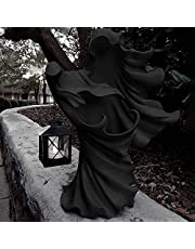 The Ghost Looking for Light - Hell's Messenger with Lantern, Halloween Creative Ghost Statue Decoration, Witch Ghoul Lamp Courtyard Resin Decoration