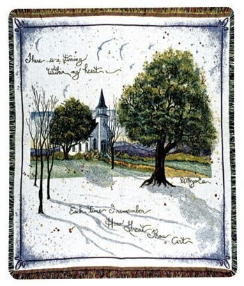 How Great Thou Art Church Throw Blanket