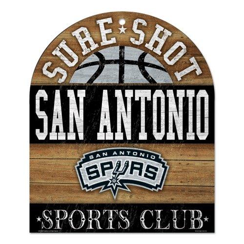 NBA San Antonio Spurs Wood Club Sign, 10 x 11
