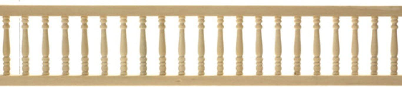 Town Square Miniatures Dolls House Miniature Fixtures Fittings Set Of 3 Natural Wood Widows Walk Rails
