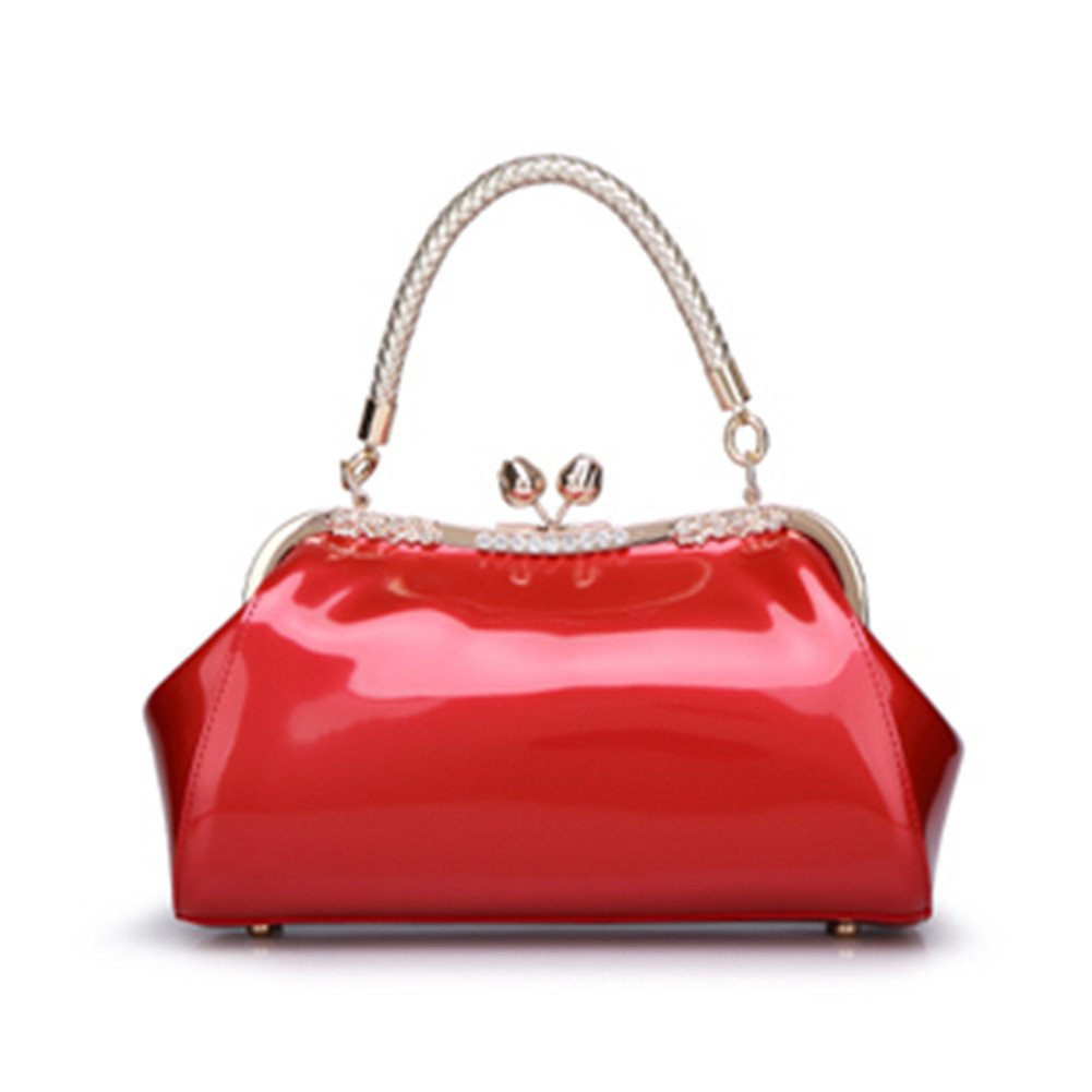 Top Shop Womens Leather Vintage Business Totes Shoulder Bags Handbags Hobos Winered Satchels by TOP SHOP BAG