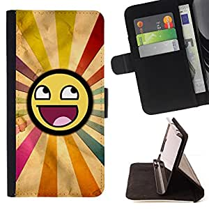 DEVIL CASE - FOR HTC Desire 820 - Smiley Rainbow Sun Symbolic Lgbt Art - Style PU Leather Case Wallet Flip Stand Flap Closure Cover