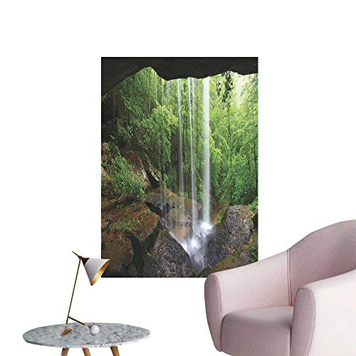 Vinyl Artwork Still Waterfall in The Forest in Northern Alabama Habitat Ecosystem Scenery Gr Easy to Peel Easy to Stick,32