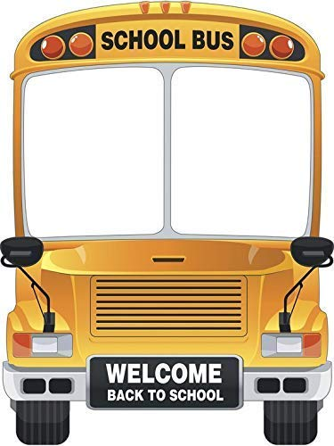 Amazoncom School Bus Selfie Frame Yellow Education Bus Theme Photo