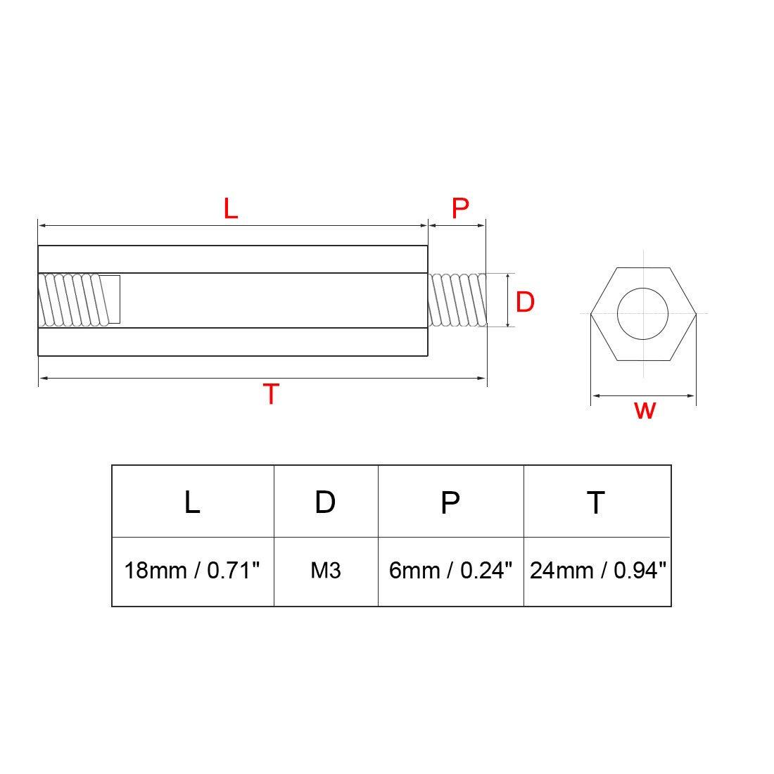 uxcell 100pcs M2 23+4mm Female Male Thread Brass Standoff Spacer Screws PCB Pillar