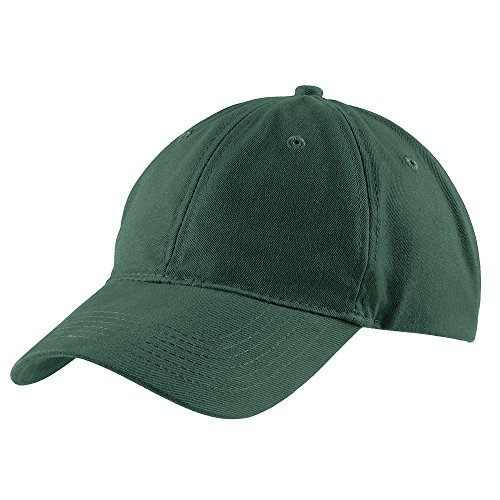 Green Low Profile Cap - Trendy Apparel Shop Plain Brushed Soft Cotton Unstructured Low Profile Dad Hat - Hunter
