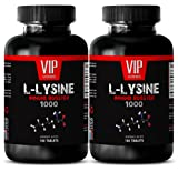 L-Lysine natural - L-LYSINE IMMUNE BOOSTER 1000 - After workout supplements - 2 Bottles 200 tablets