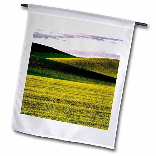 Palouse Hills - 3dRose Danita Delimont - Agriculture - USA, Washington State, Palouse, Rolling Hills of Wheat - 12 x 18 inch Garden Flag (fl_279763_1)