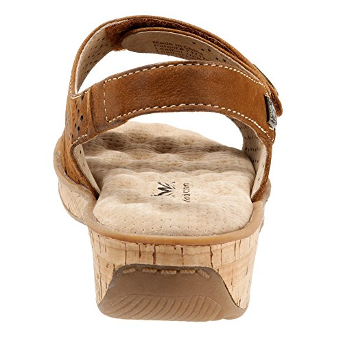 Buff Sandal Leather Wedge Women's Softwalk Bolivia Tan Tumbled q7Cwn