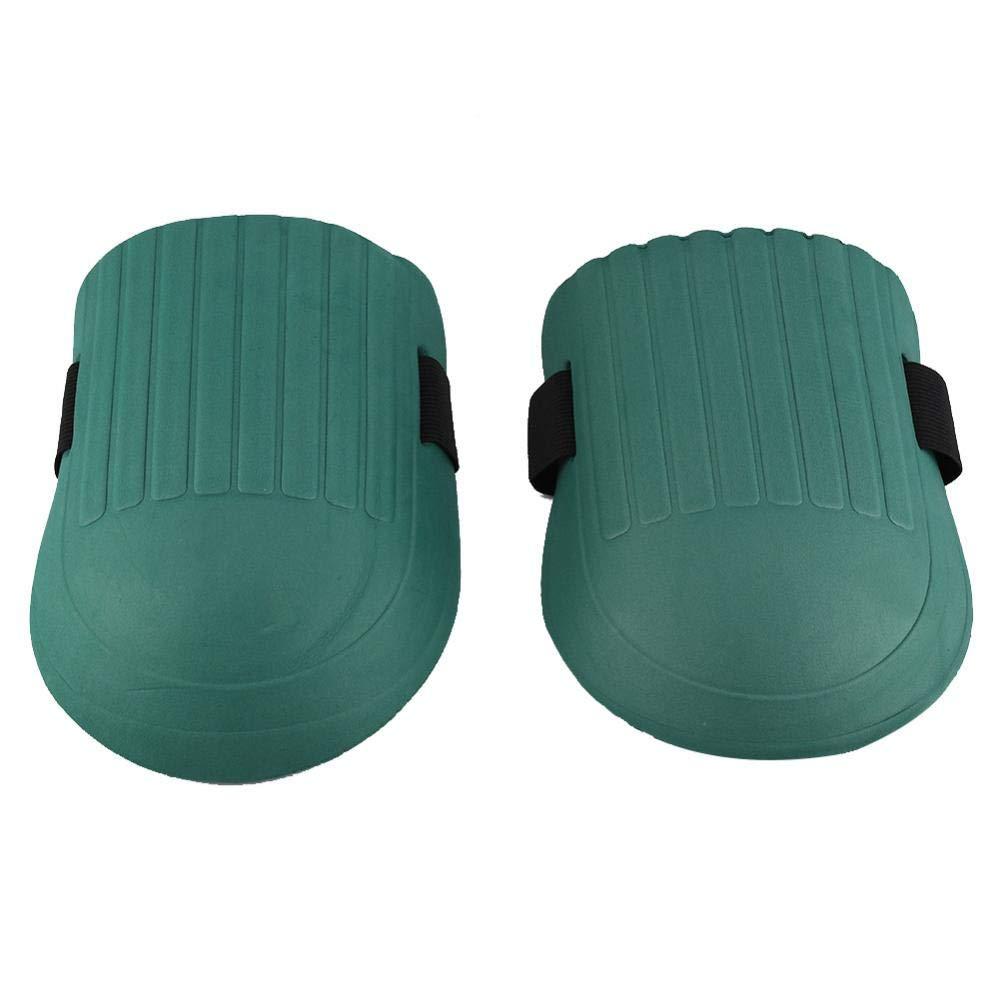 Fdit 1 Pair of EVA Knee Pads Kneelet Protective Gear for Construction Gardening Flooring Outdoor Dark Green