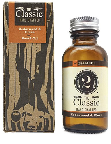 The Classic 2 Bits Man Natural Leave in Conditioner and Softener for Your Beard, Scented with Essential Oil, Cedarwood/Clove, 1 Oz