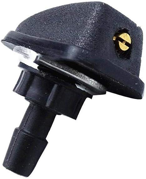 LinYom Universal Car Rondella del Parabrezza Wiper Acqua Ugello di Spruzzo di Plastica Nera A Forma di Ventaglio Accessori for Auto Ugello Regolabile